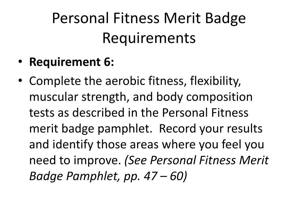 Physical Fitness Merit Badge Worksheet Answers