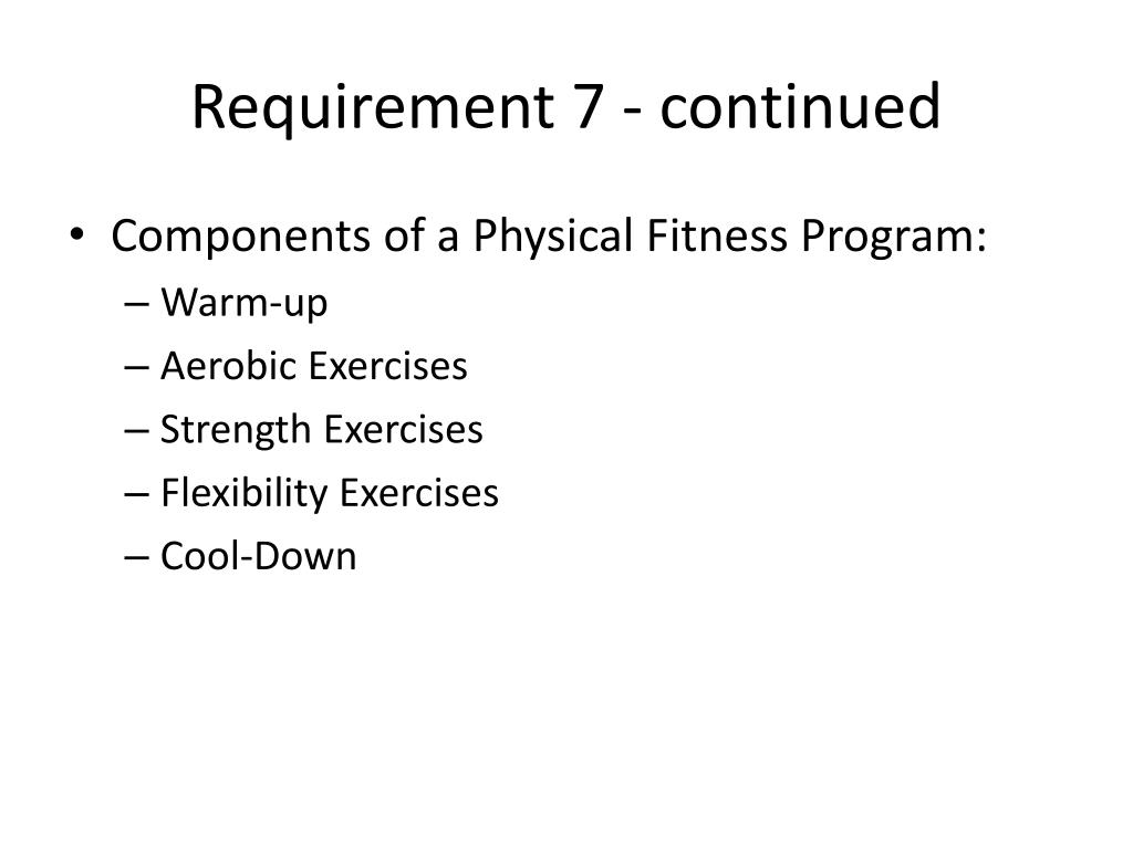 Physical Fitness New Physical Fitness Merit Badge Log