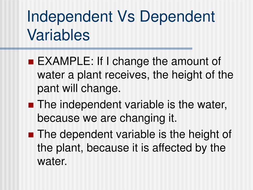 Ppt  Independent And Dependent Variables Powerpoint Presentation  Id633769