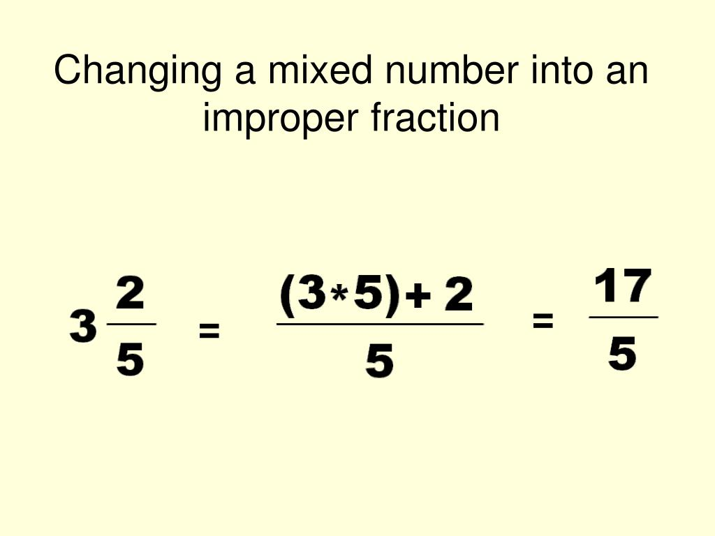 How To Turn Improper Fractions Into Mixed Numbers Nvert