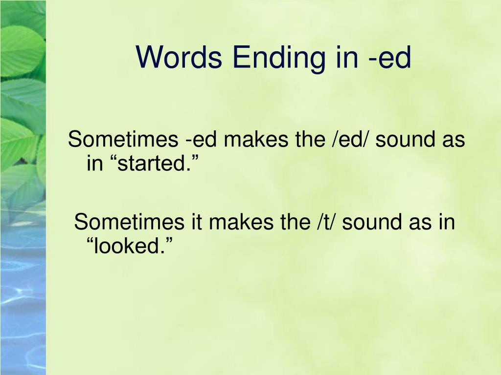 Ppt  Phonics Base Words And S, Ed, Ing Endings