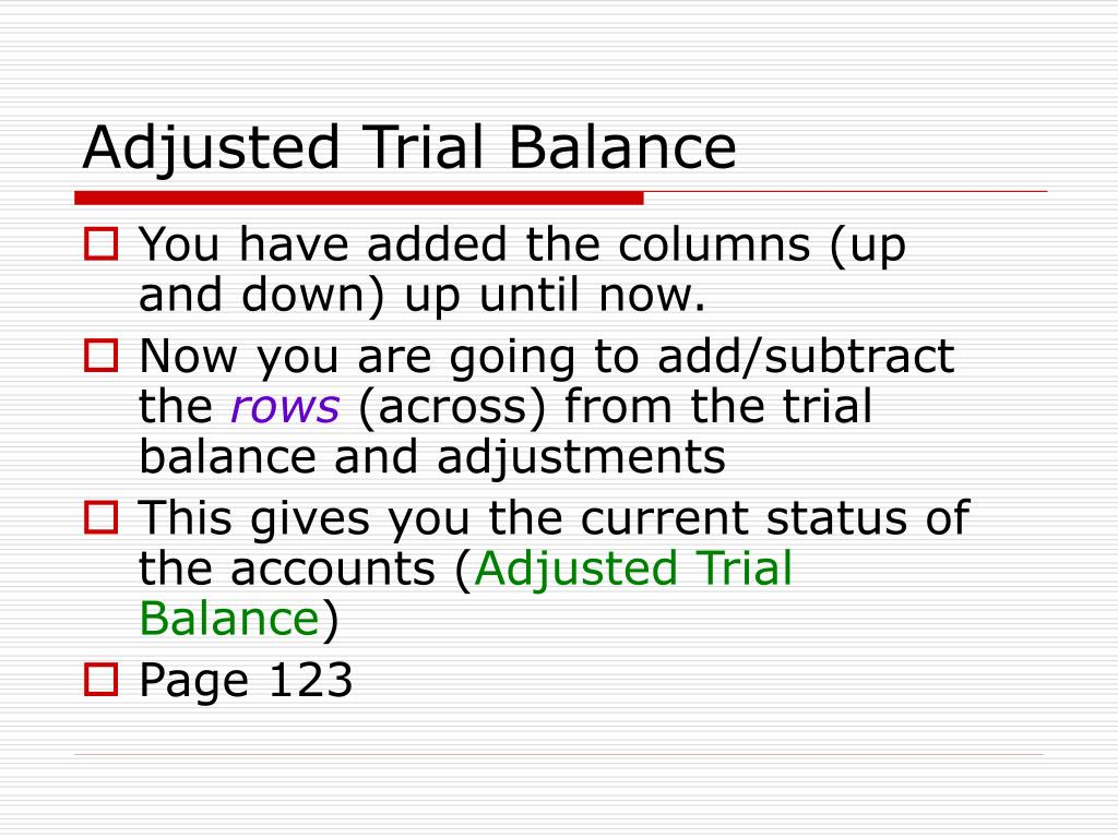 How To Make Income Statement From Adjusted Trial Balance