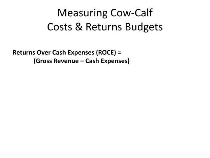 PPT - Cow-Calf Production Budgets PowerPoint Presentation - ID:661837