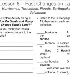 Fast Land Changes Worksheets   Printable Worksheets and Activities for  Teachers [ 768 x 1024 Pixel ]