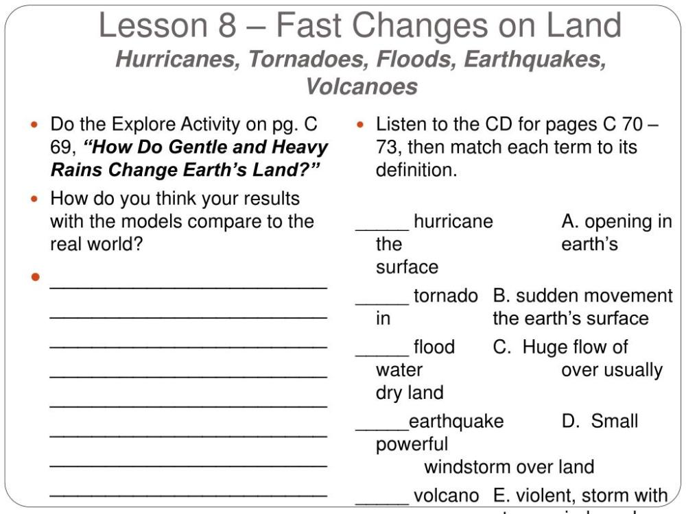 medium resolution of Fast Land Changes Worksheets   Printable Worksheets and Activities for  Teachers