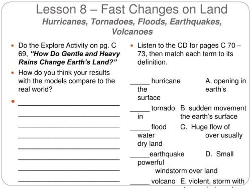 small resolution of Fast Land Changes Worksheets   Printable Worksheets and Activities for  Teachers