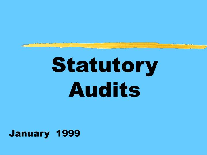 PPT - Statutory Audits PowerPoint Presentation. free download - ID:705333
