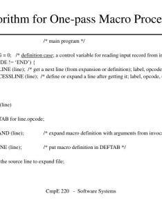Algorithm for one pass macro processor  also ppt powerpoint presentation rh slideserve