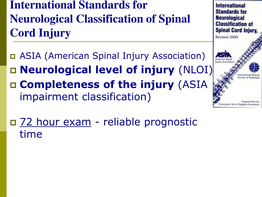 Asia Spinal Cord Injury Worksheet