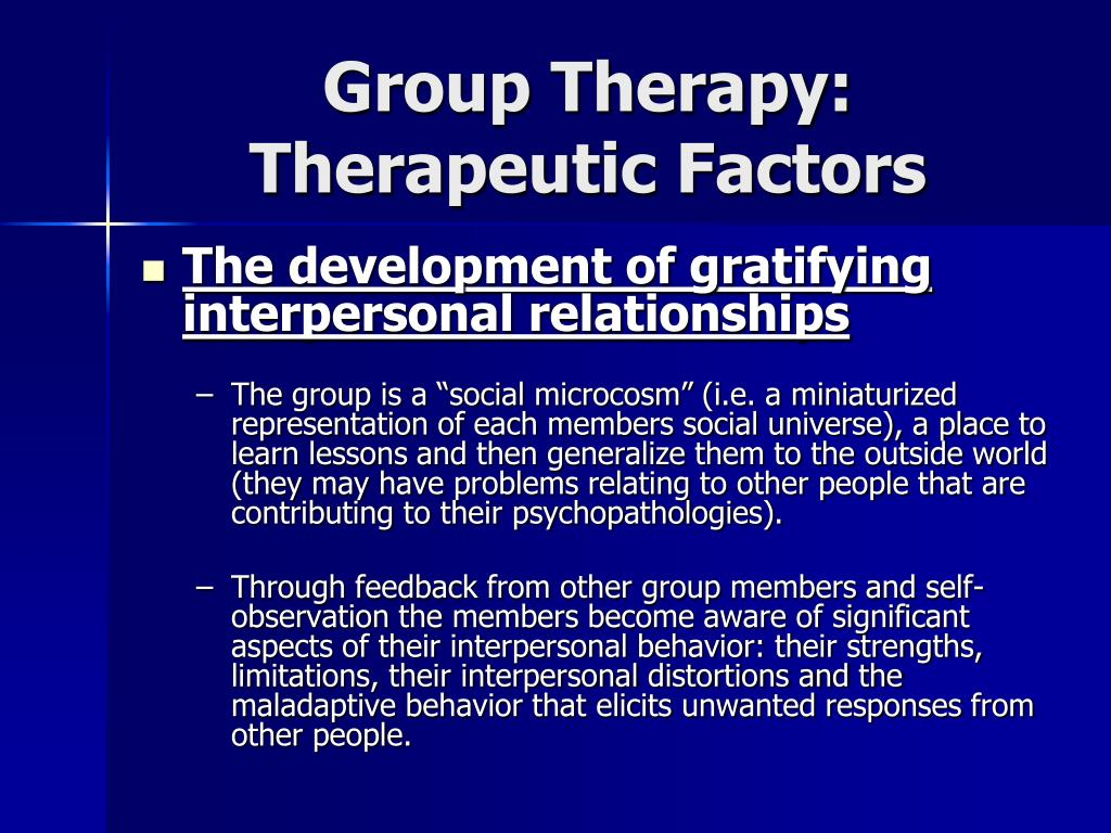 Group Psychotherapy Techniques