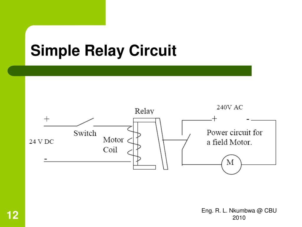 simple relay circuit diagram ford focus wiring 2010 powerflex 4 sd control 8 pin socket