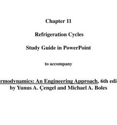 an engineering approach 6th editionby yunus a engel and michael a boles the vapor compression refrigeration cycle  [ 1024 x 768 Pixel ]