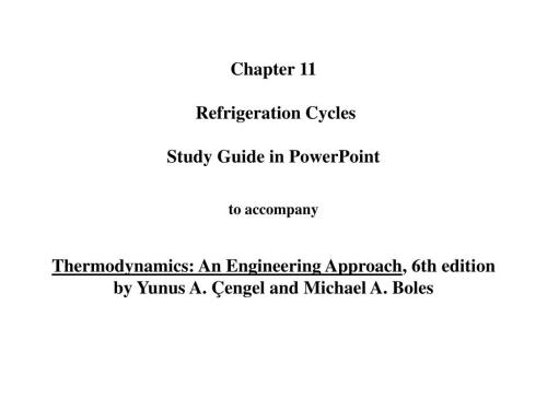 small resolution of  an engineering approach 6th editionby yunus a engel and michael a boles the vapor compression refrigeration cycle