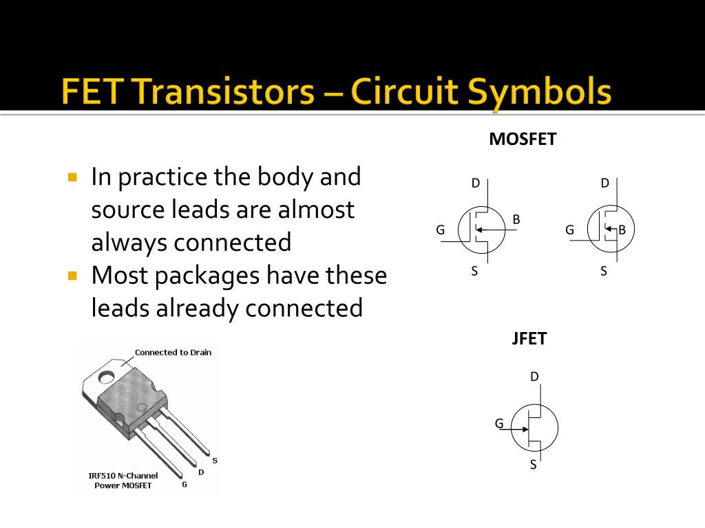 Different Kinds Of Mosfets Circuit Symbols For The Four Ty