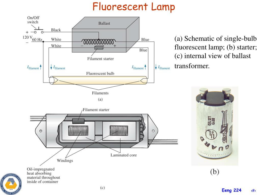 hight resolution of fluorescent lamp a schematic