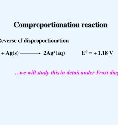 v comproportionation reaction reverse of disproportionation we will study this in detail under frost diagram [ 1024 x 768 Pixel ]