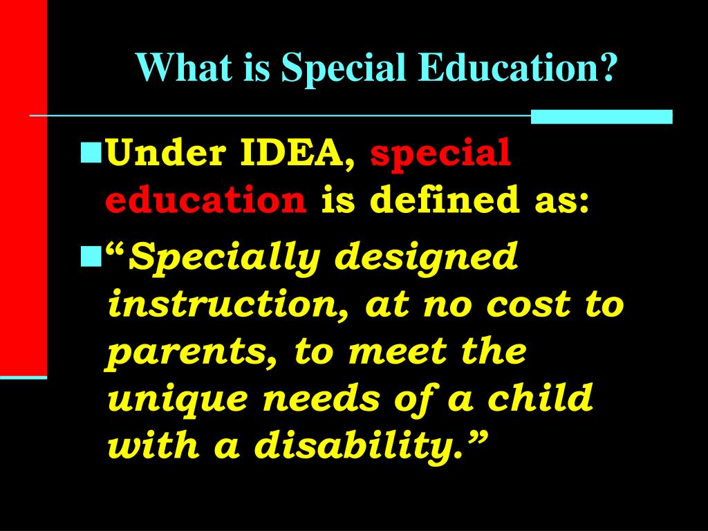 PPT - Definition of Special Education PowerPoint Presentation. free download - ID:829579