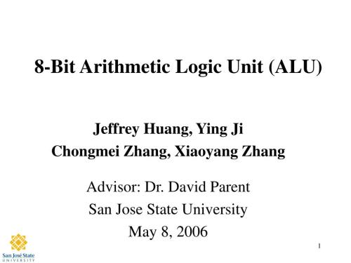 small resolution of 8 bit arithmetic logic unit alu n
