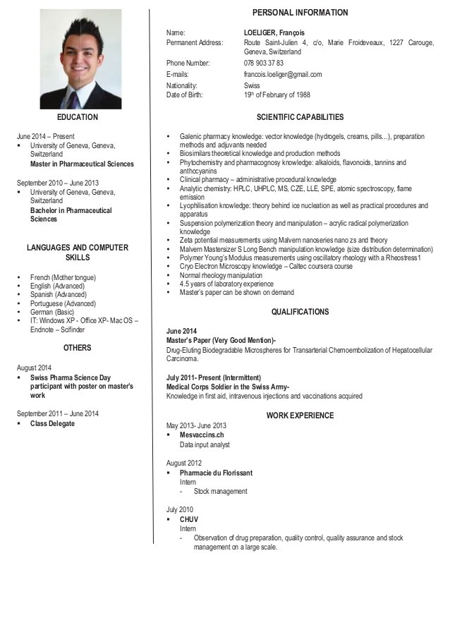 LOELIGER Francois Scientific CV English