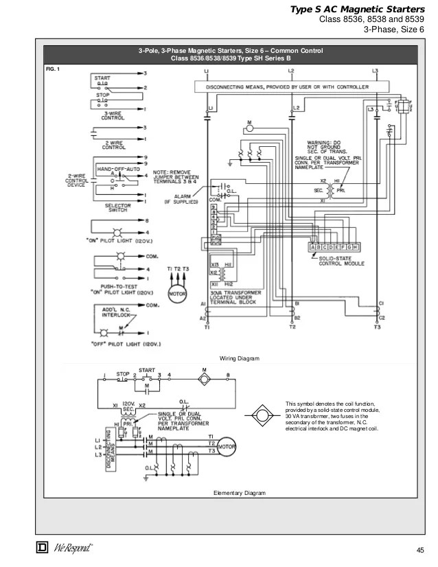 Square D Lighting Contactor Class 8903 Wiring Diagram Elec Machine