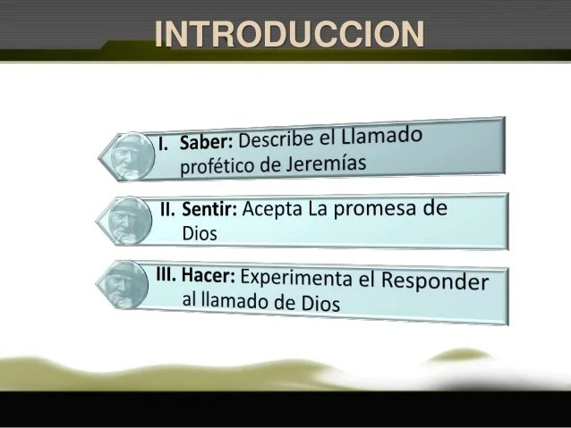 01 Llamado Profetico De Jeremias
