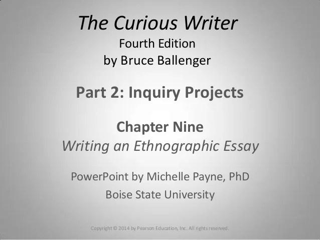 Essay 3 The Ethnographic Essay