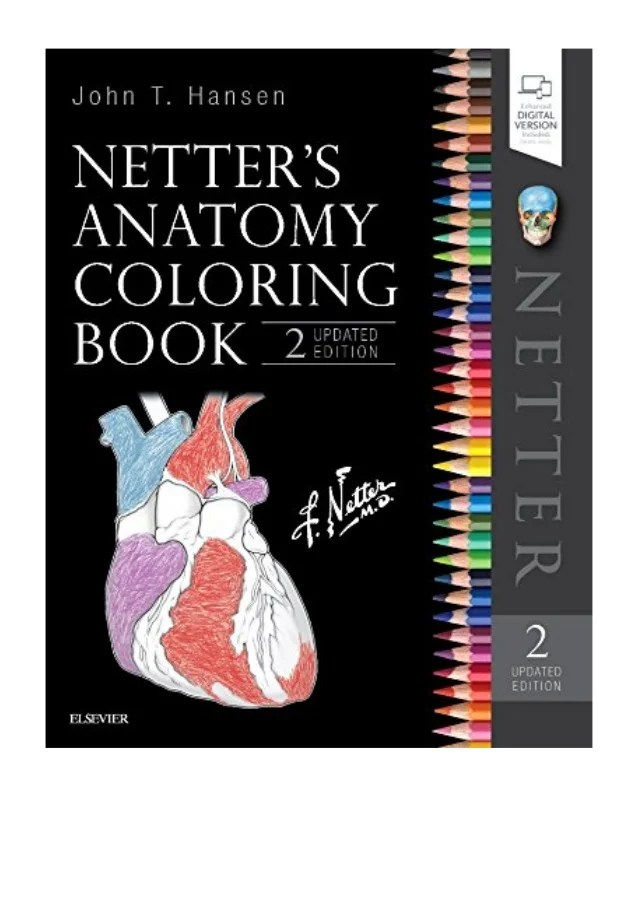 Netter's Anatomy Coloring Book Pdf : netter's, anatomy, coloring, Netter's, Anatomy, Coloring, Updated, Edition, Hansen