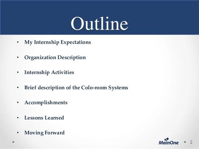 End Of Internship Presentation By John