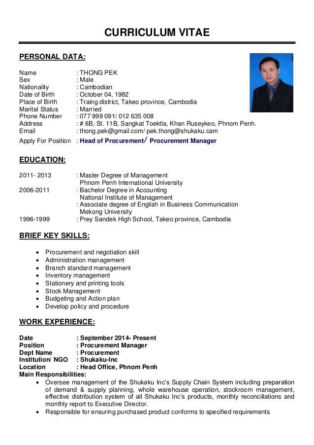 CV UPDATE