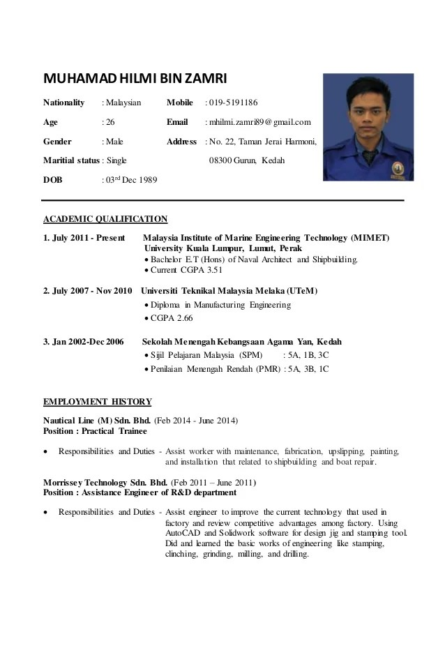 Example Of Resume For Internship In Malaysia Write My Essay For Me