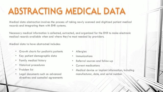 Abstracting also scanning  adding medical records to an ehr rh slideshare