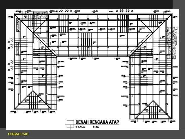 gambar rangka atap baja ringan limasan struktur