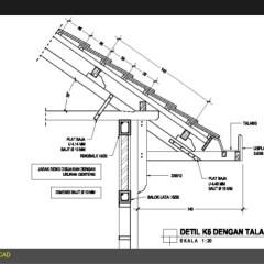 Overstek Baja Ringan Rangka Atap Struktur