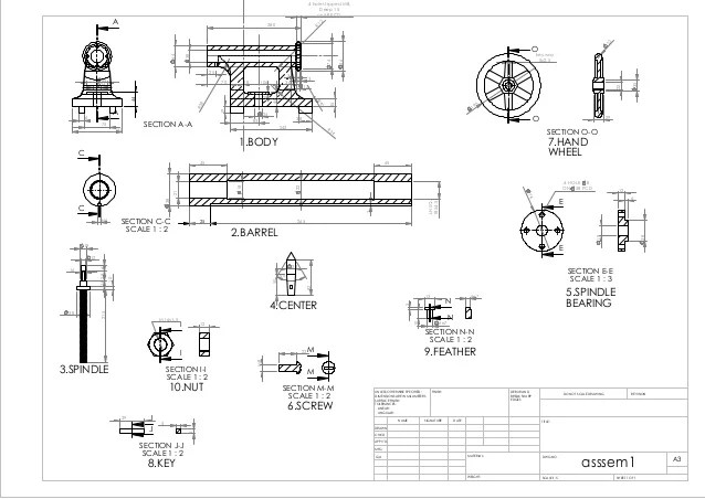 Lathe Tailstock Assembly Drawing Pdf