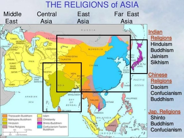 Map Of Where Hinduism Is Practiced