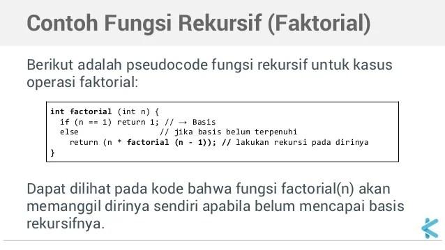 Algoritma Dan Struktur Data Rekursif