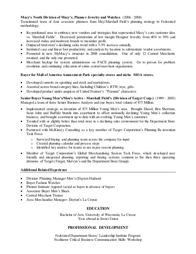 Macys Resume Macys Resume Free Resume Example And Writing