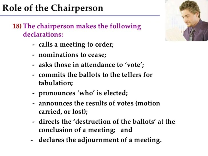 what is a chairperson in meeting burlesque chair dance leave your hat on 7 role of the 8