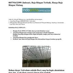 Harga Atap Baja Ringan Zinc 085791632999 Indosat Terbaik Malang
