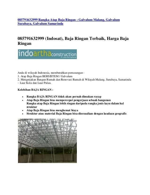 harga rangka atap baja ringan di malang 085791632999 galvalum sura