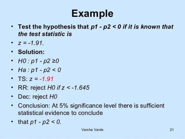 08 Test Of Hypothesis Large Sample Ppt