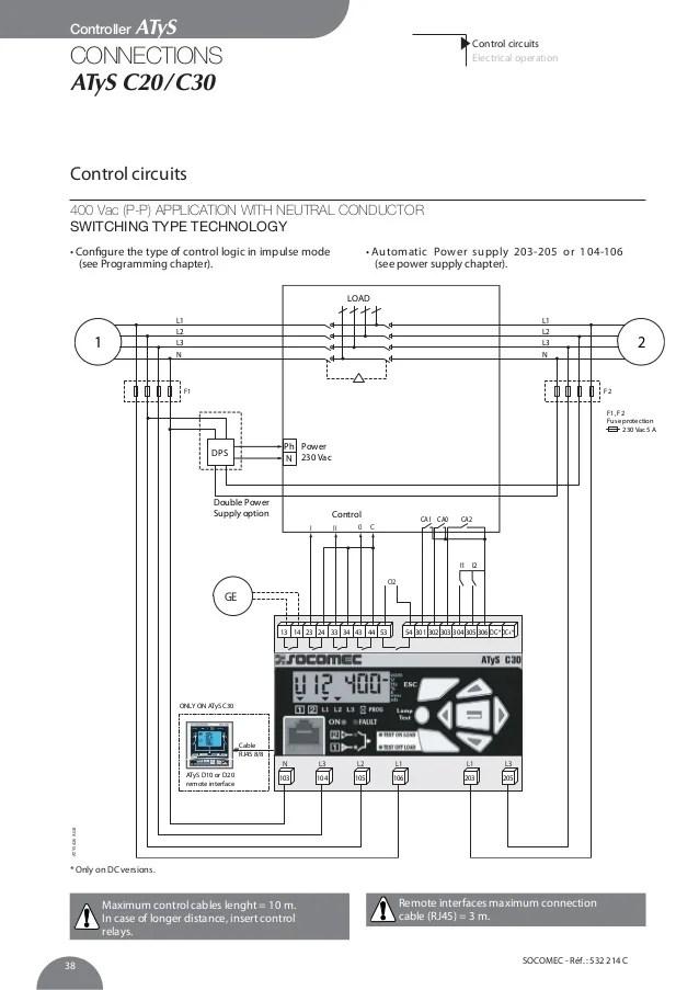 Wiring Diagram Ats Socomec