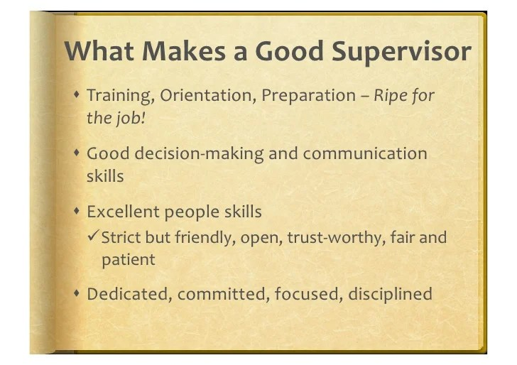 Best Practices In Supervision