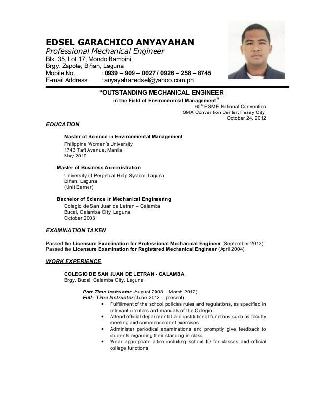 Edsel Resume