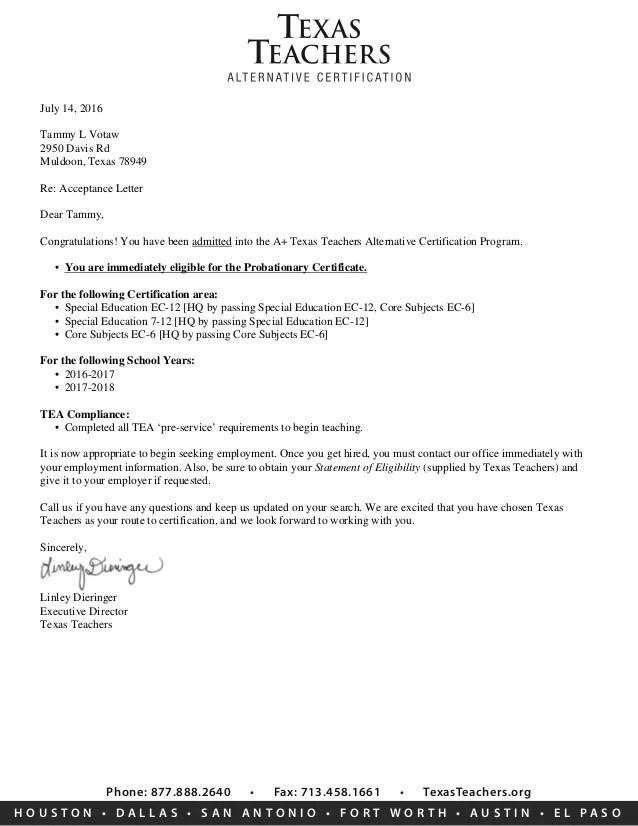 Letter Of Eligibility Teaching Poemdocor