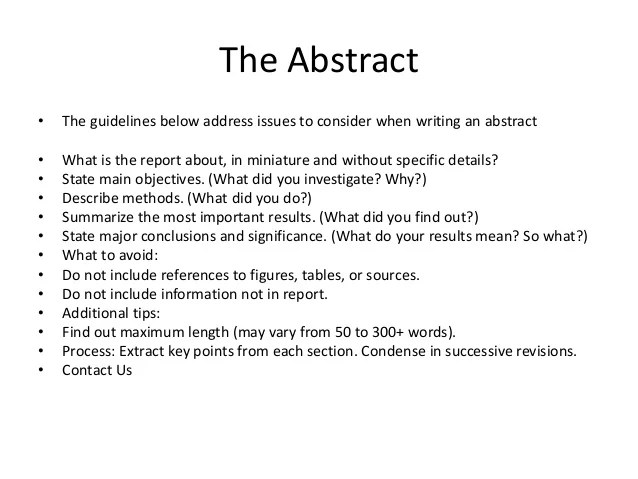 Thesis Abstract Sample Engineering