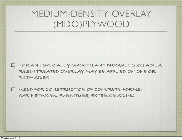 Medium Density Overlay Mdo