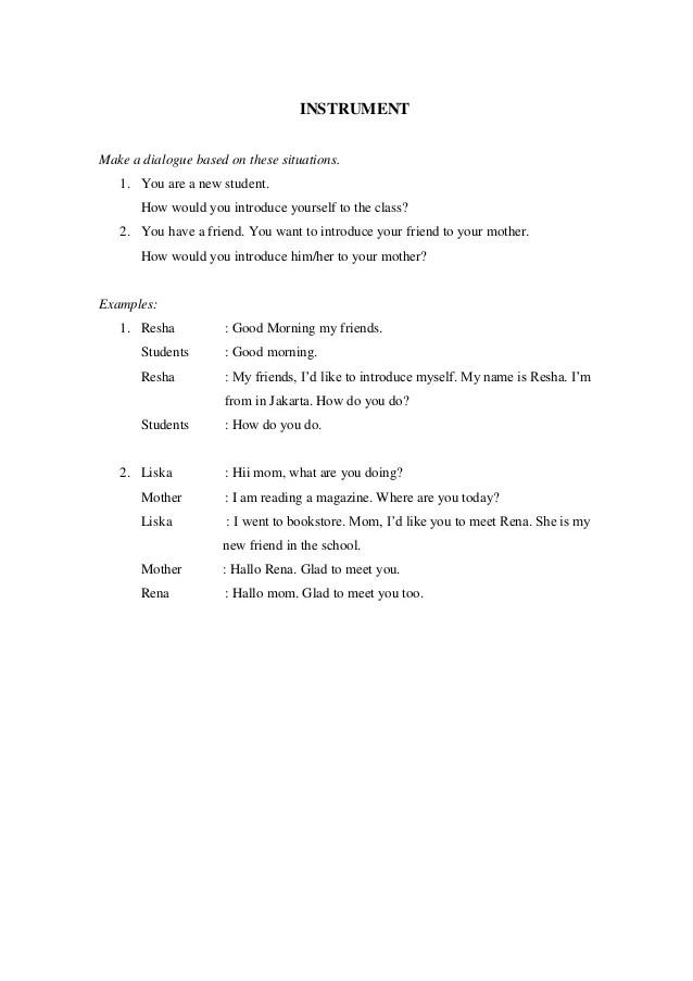 Contoh Dialog Introducing Others : contoh, dialog, introducing, others, Contoh, Dialog, Bahasa, Inggris, Dislike, Pajero