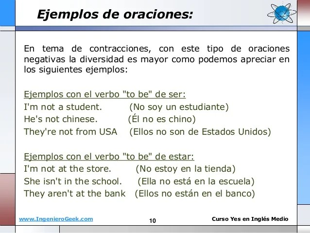 1.1 el verbo to be, oraciones y