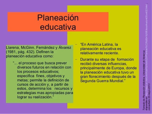 Planeacin educativa y diseo curricular